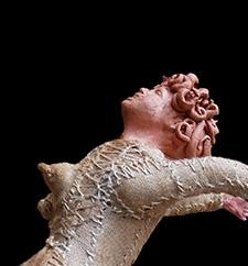 (English) Patrizia Trevisi - Centaura, Centauro, archetipo, arte tessile, astrazione organica, arte tessile, fiber art, mito, ready made, tecnica mista, texture , donna-cavallo, terracotta