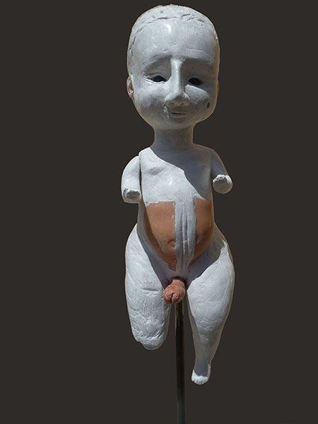 Patrizia Trevisi - Ermafrodita, Ermafrodita, archetipo, arte tessile, astrazione organica, culto della Madre Terra, fiber art, Mixed media, modellato in gesso, ready made, scultura tessile