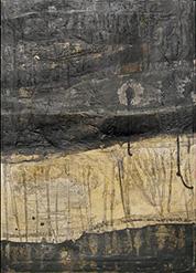 quadro su tela e gesso graffito dipinto con pigmenti lavati e colori a olio.. Mixed media