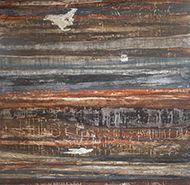 Trittico Sedimentazioni-Tecnica mista- terre pigmenti su carta di riso e tela intelaiata