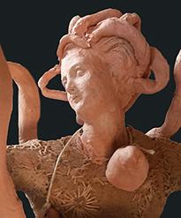 Patrizia Trevisi - Donna serpente, 2016 Donna serpente, archetipo, arte tessile, astrazione organica, arte tessile, fiber art, mito, ready made, tecnica mista, texture, terracotta