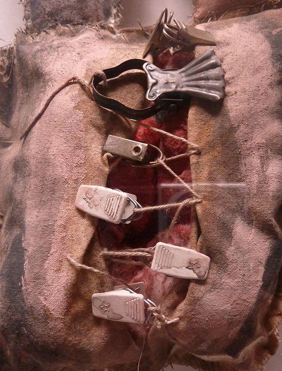Patrizia Trevisi - Androgino, archetipo, arte tessile, astrazione organica, bassorilievo, Bassorilievo tessile, carne, Fiber art, mito, organi, tecnica mista, texture, Androgino, ready made