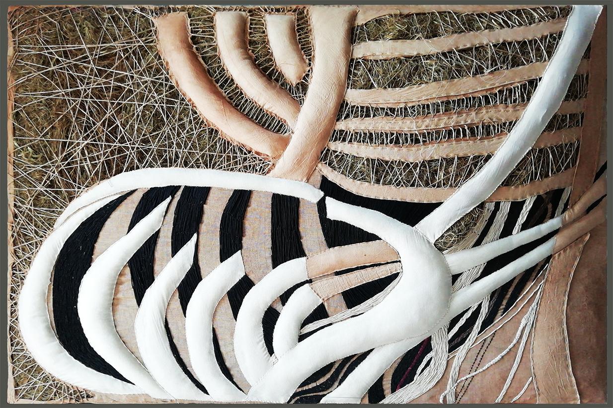 fiber art arte tessile-calendario-tempo giorni- gesto quotidiano - artista Zen
